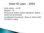 voter id laws 2004