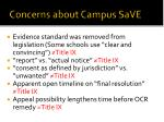 concerns about campus save