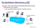 file distribution client server vs p2p