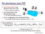 file distribution time p2p