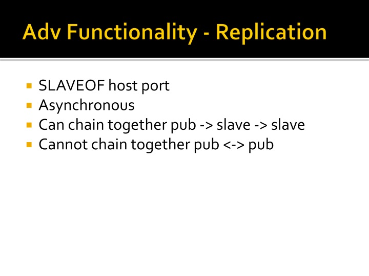 Adv Functionality - Replication