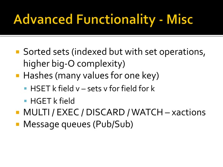 Advanced Functionality - Misc