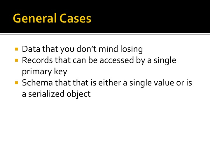 General Cases