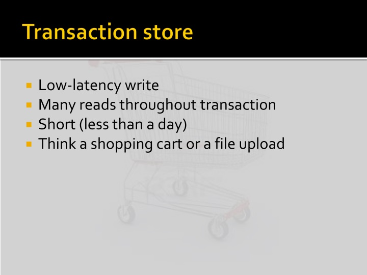 Transaction store