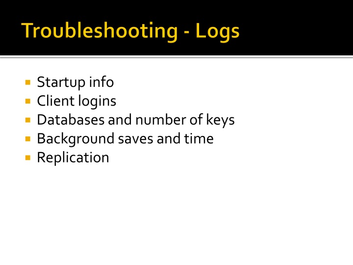 Troubleshooting - Logs