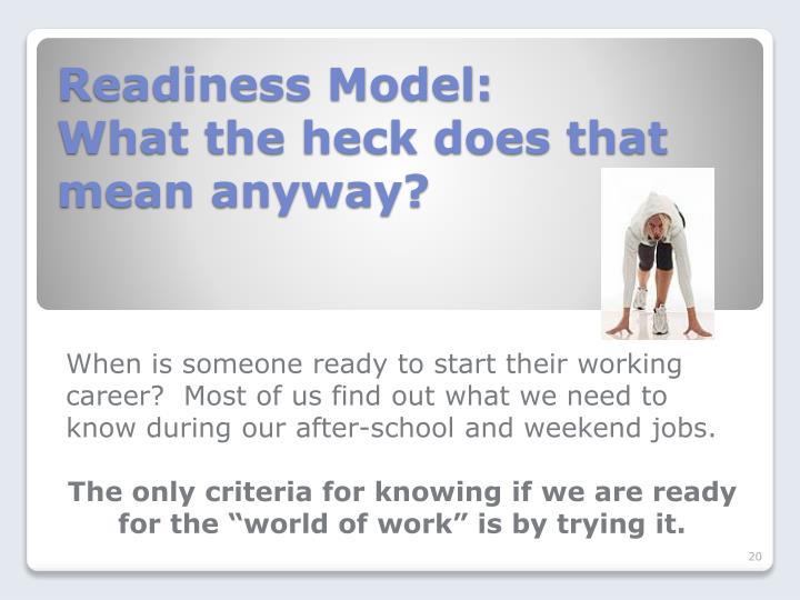 Readiness Model: