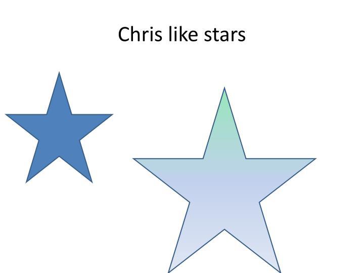Chris like stars