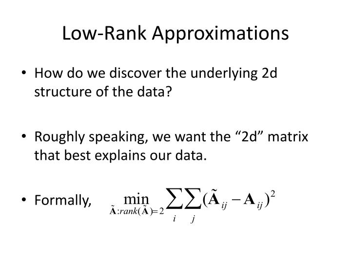 Low-Rank Approximations