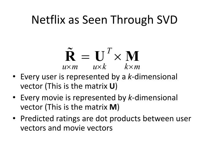 Netflix as Seen Through SVD