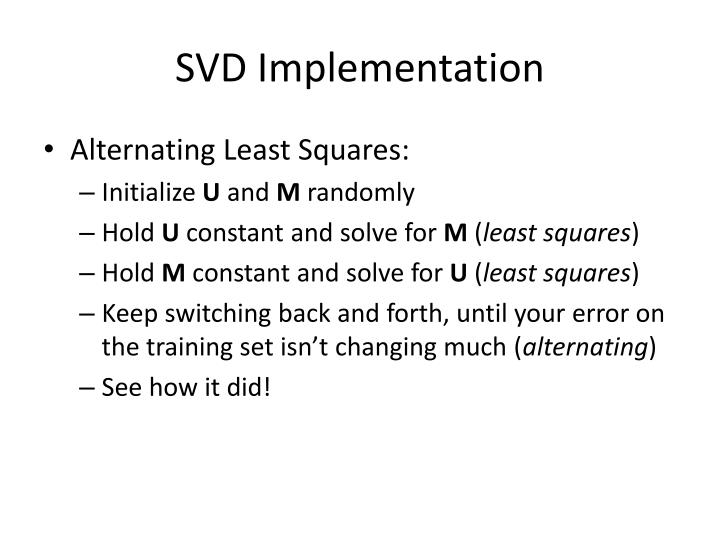SVD Implementation