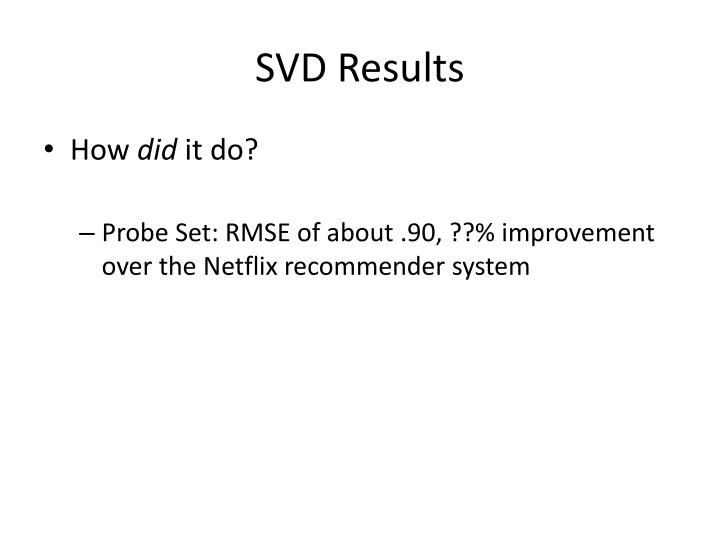 SVD Results