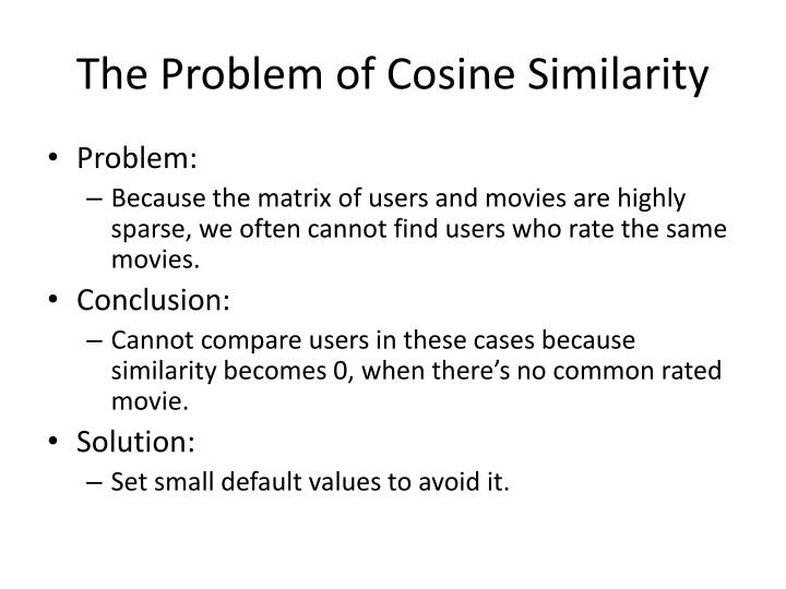 The Problem of Cosine Similarity