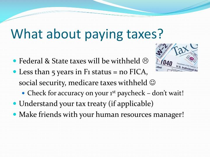 What about paying taxes?