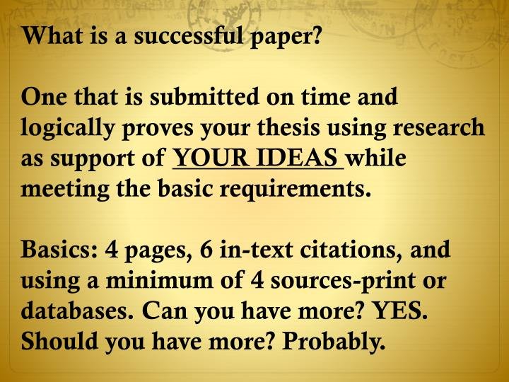 What is a successful paper?