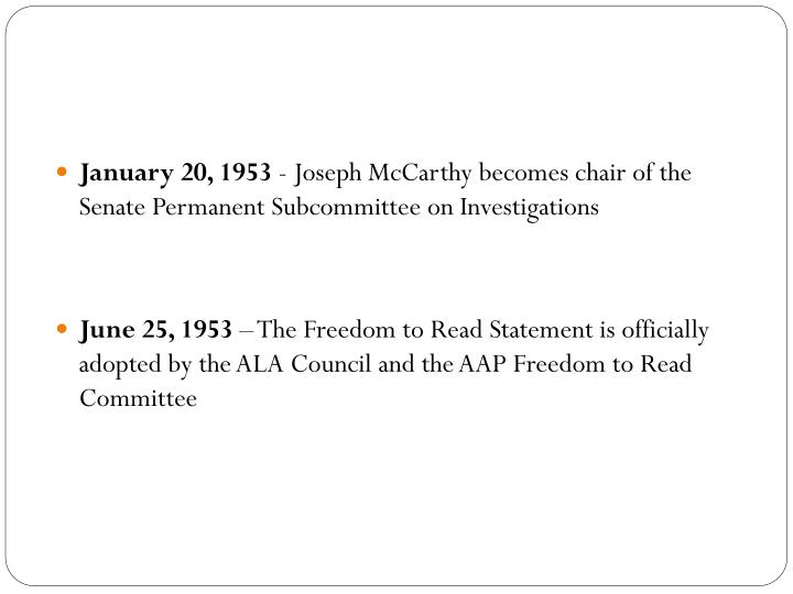 January 20, 1953