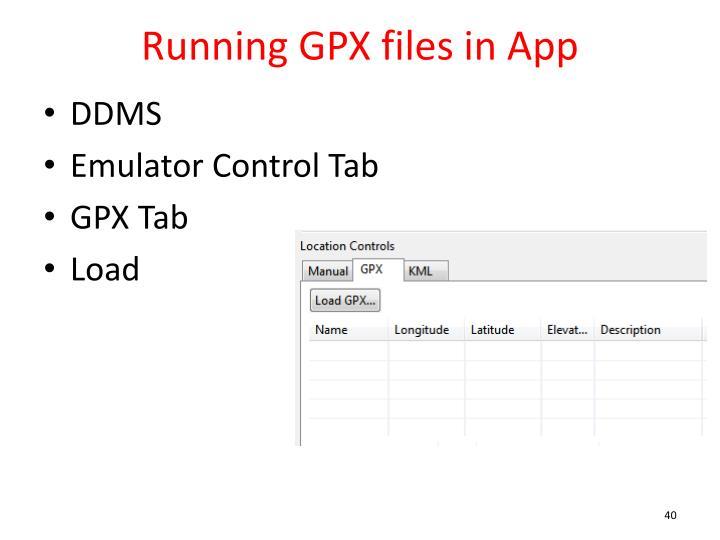 Running GPX files in App