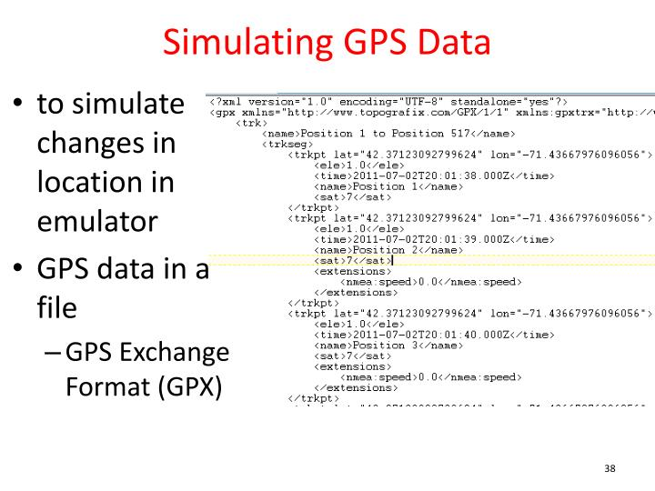 Simulating GPS Data