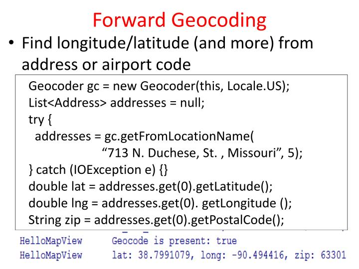 Forward Geocoding