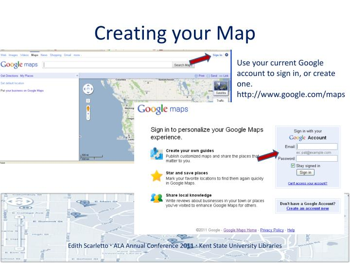 Creating your map