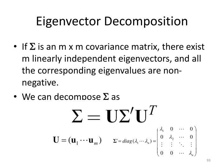 Eigenvector Decomposition
