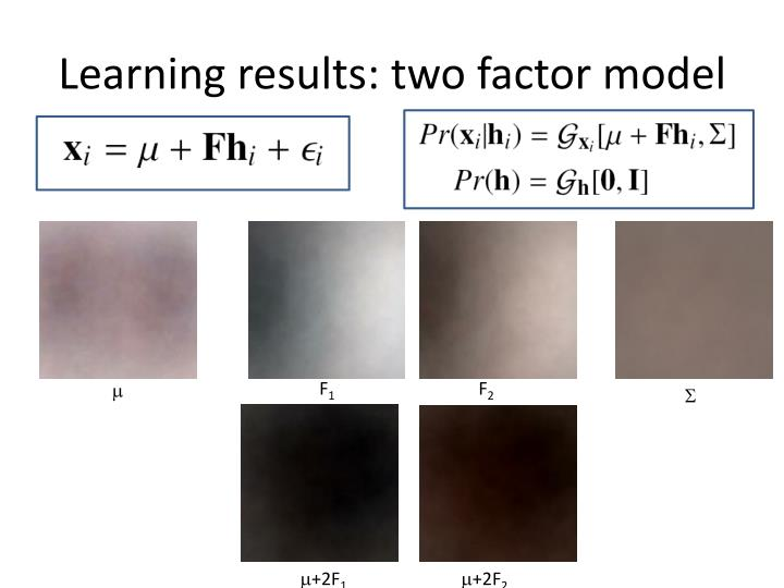 Learning results: two factor model