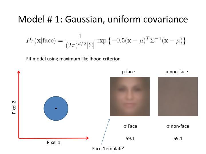 Model # 1: Gaussian, uniform covariance