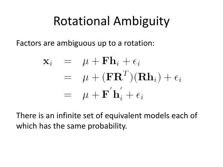 Rotational Ambiguity