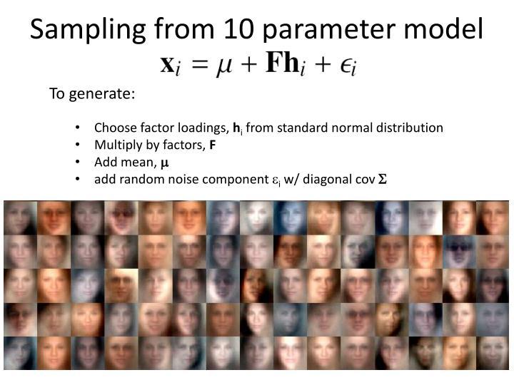Sampling from 10 parameter model