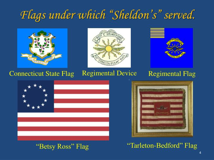"Flags under which ""Sheldon's"" served."
