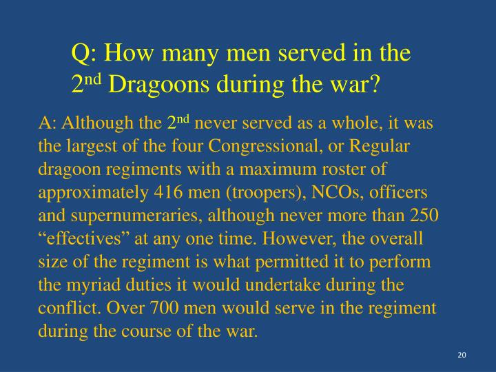 Q: How many men