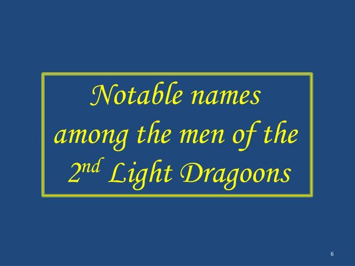 Notable names