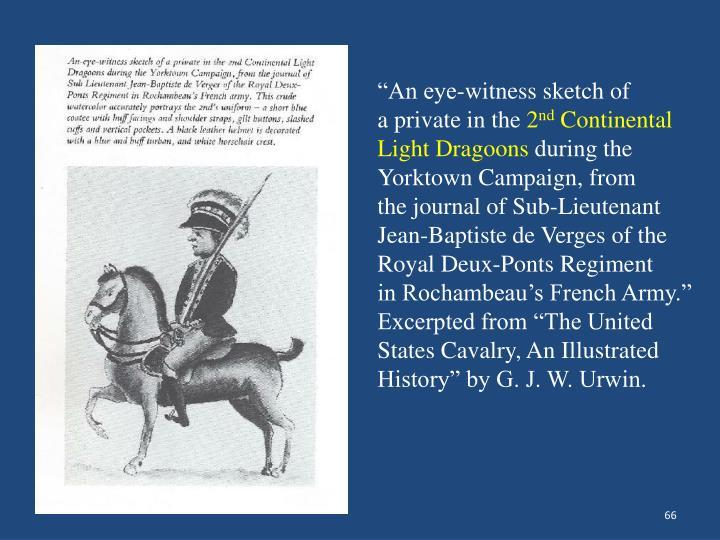 """An eye-witness sketch of"