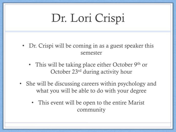Dr. Lori Crispi