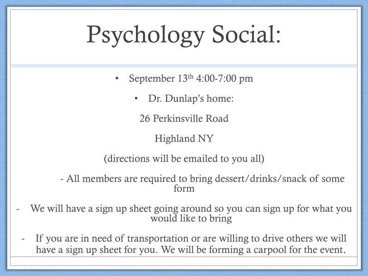 Psychology Social: