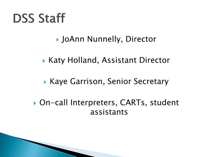 DSS Staff