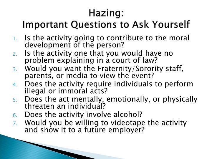Hazing: