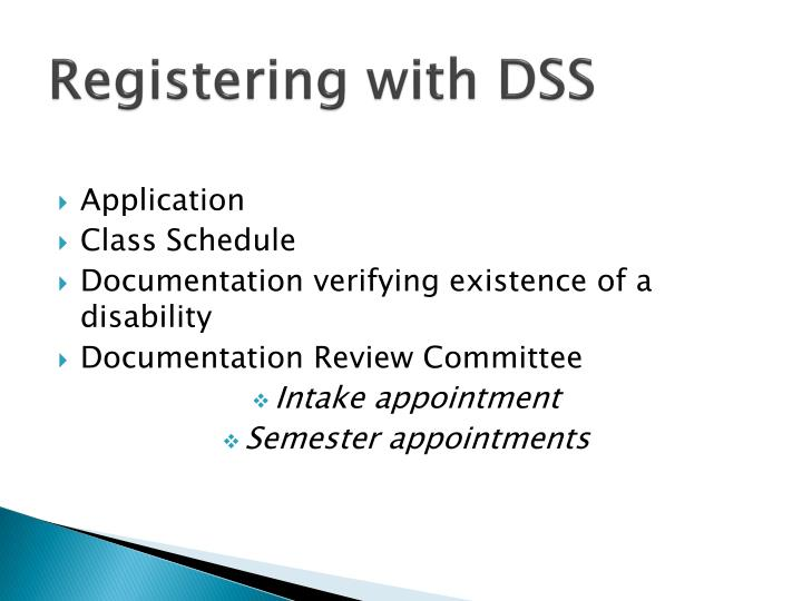 Registering with DSS