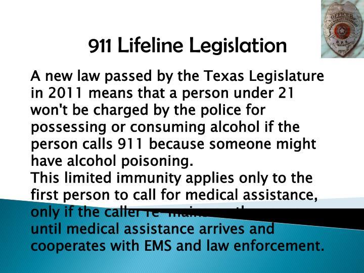 911 Lifeline Legislation