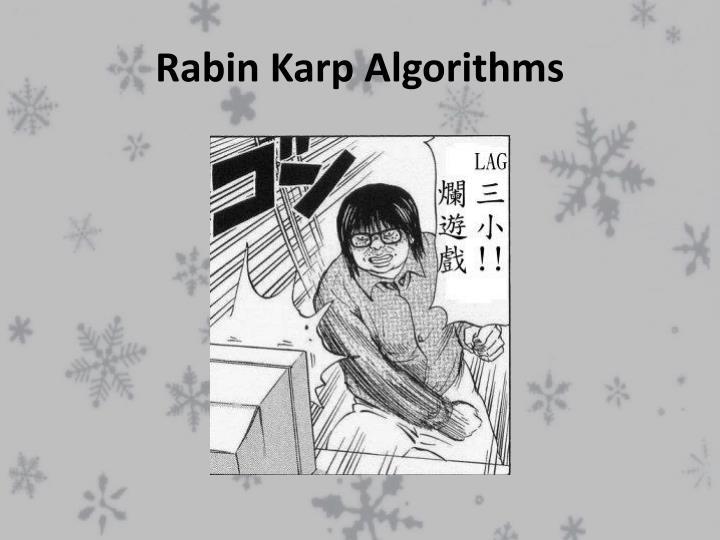 Rabin Karp Algorithms