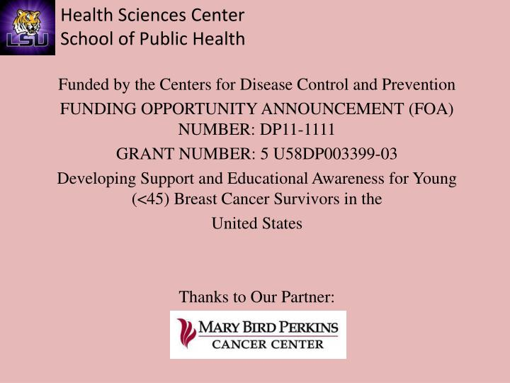 Funded by the Centers for Disease Control and Prevention