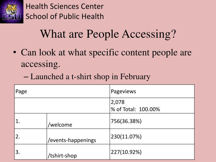 What are People Accessing?