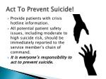 act to prevent suicide
