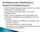 antidepressant medications atypical antidepressants