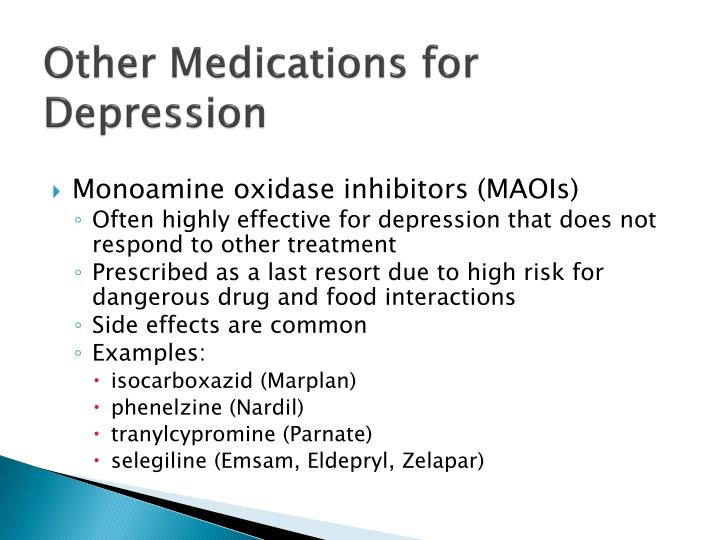 Other Medications for Depression