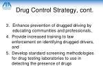 drug control strategy cont