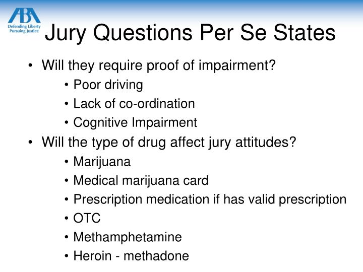 Jury Questions Per Se States