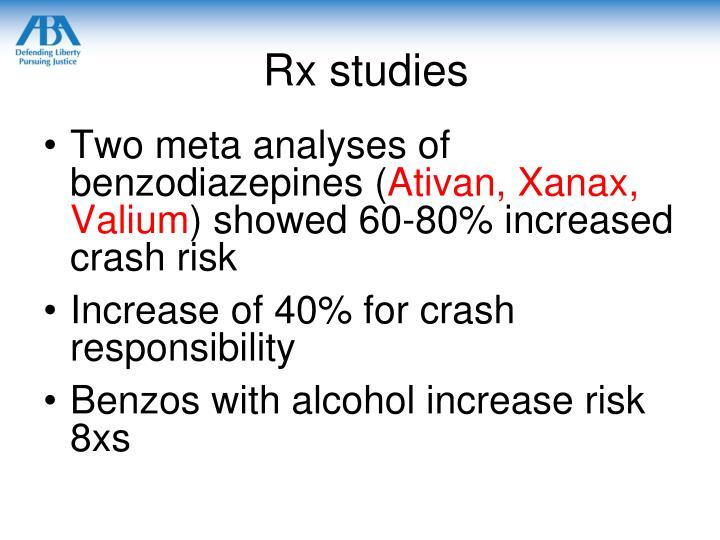 Rx studies