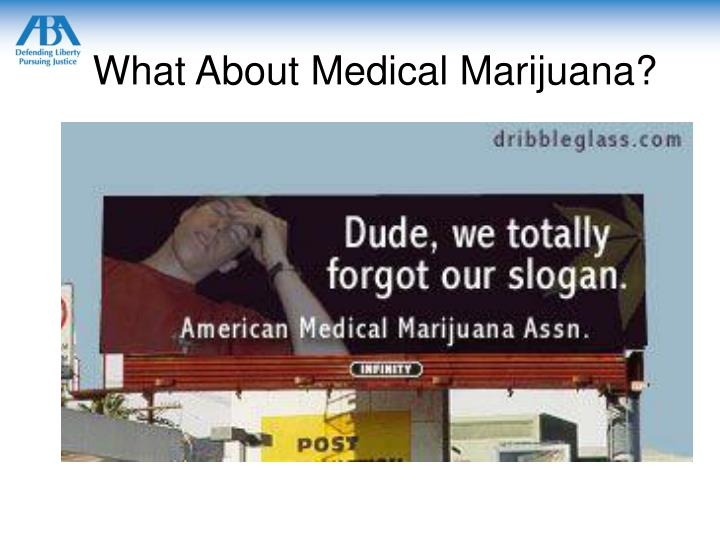 What About Medical Marijuana?
