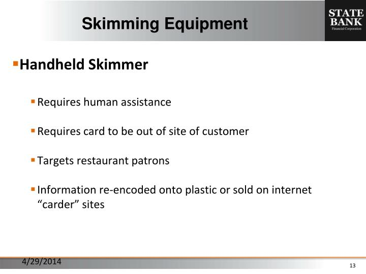Skimming Equipment