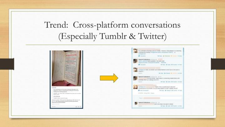 Trend:  Cross-platform conversations
